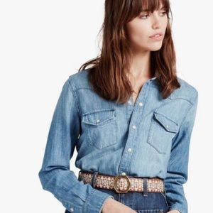 Lucky Brand Western Style Button Down
